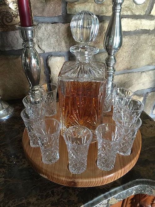 12 Shot Glass Server Lazy Susan