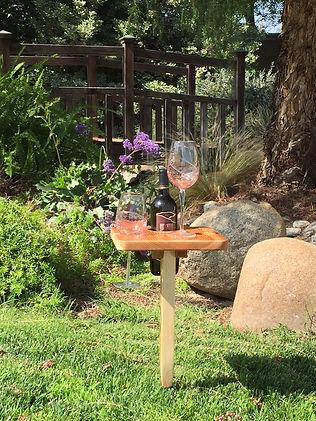 Square Cedar Wine Table