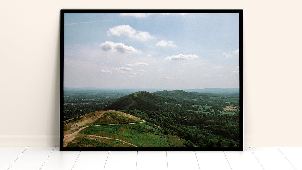 Malvern Hills Summit A3 Print