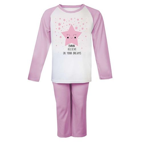 Believe in your dreams Personalised Pyjamas