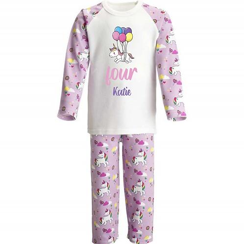 Personalised Birthday Pyjamas - Unicorn