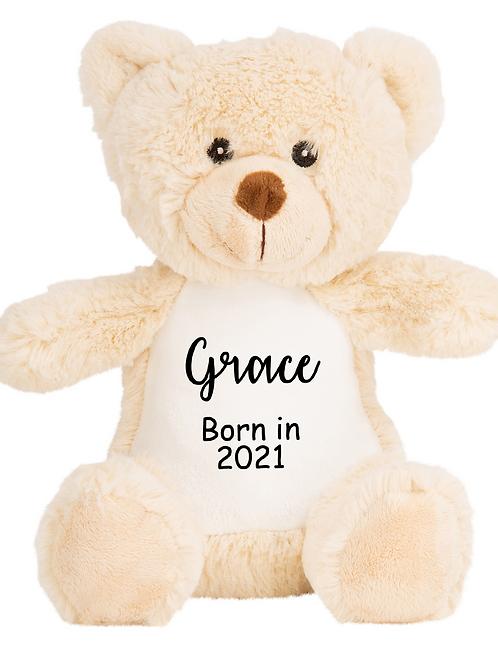 Personalised Born in 2021 Baby Teddy - Bear