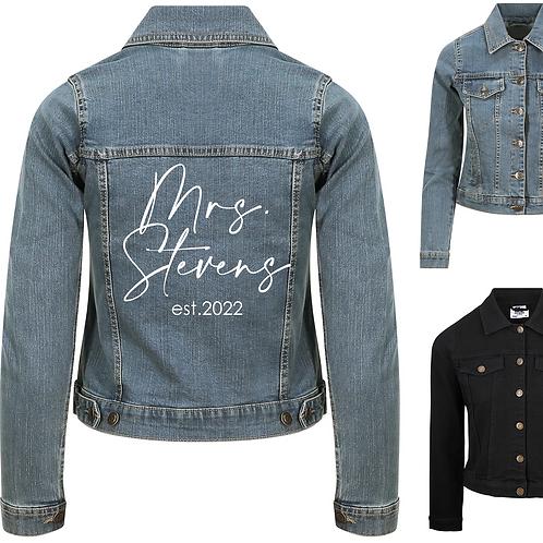 Personalised Mrs... Ladies Denim Jacket