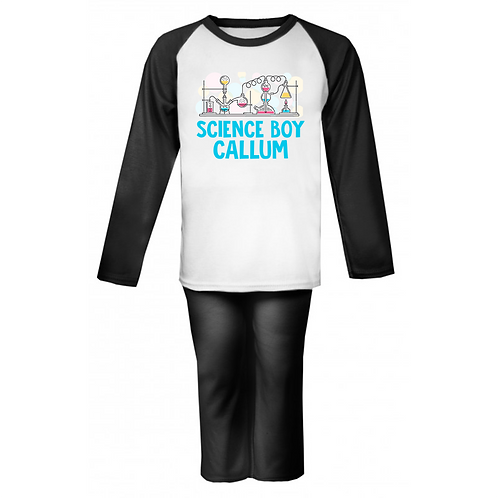 Science Boy Personalised Pyjamas