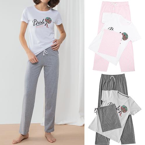 Personalised Bride Ladies Pyjamas - Bouquet