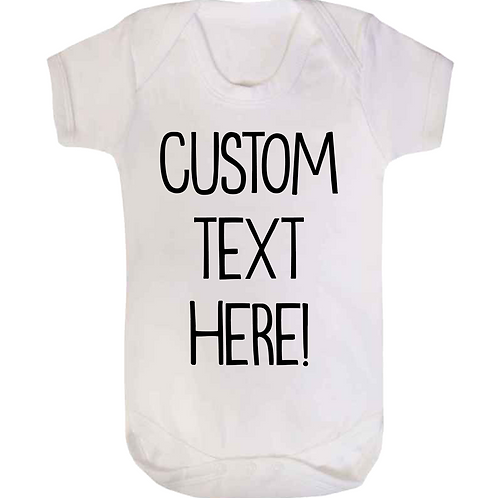 Custom Text Baby Vest