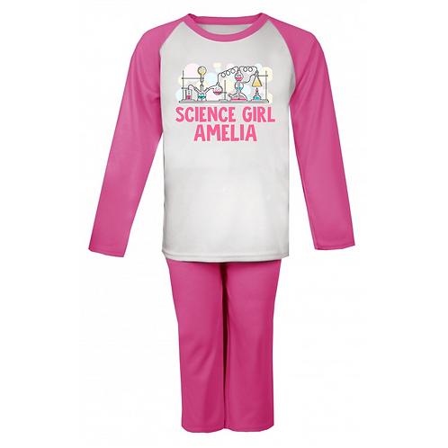 Science Girl Personalised Pyjamas