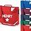 Thumbnail: Personalised Star Strap Bookbag