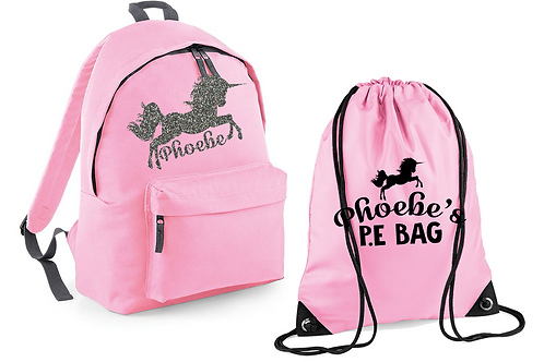 Unicorn Bag and PE Set