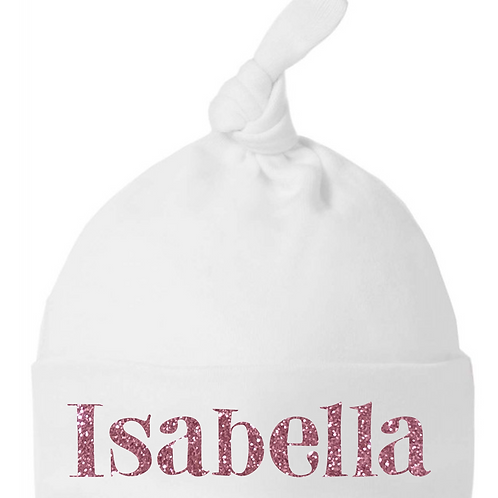 Personalised Standard Glitter Name Hat