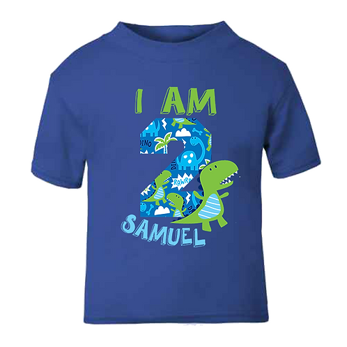 Dinosaur Style Birthday T-shirt