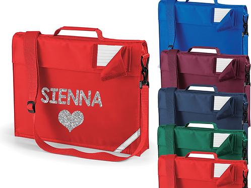 Personalised Heart Strap Bookbag