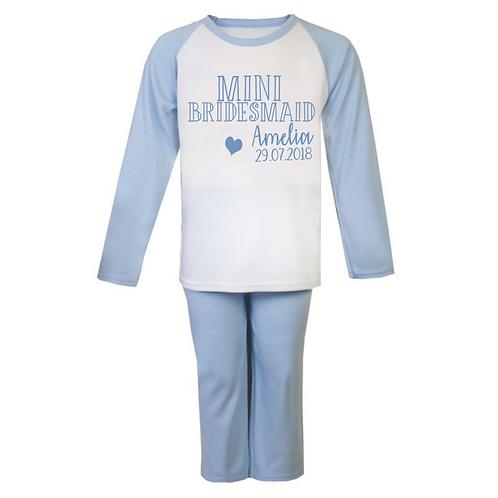 Personalised Mini Bridesmaid Pyjamas