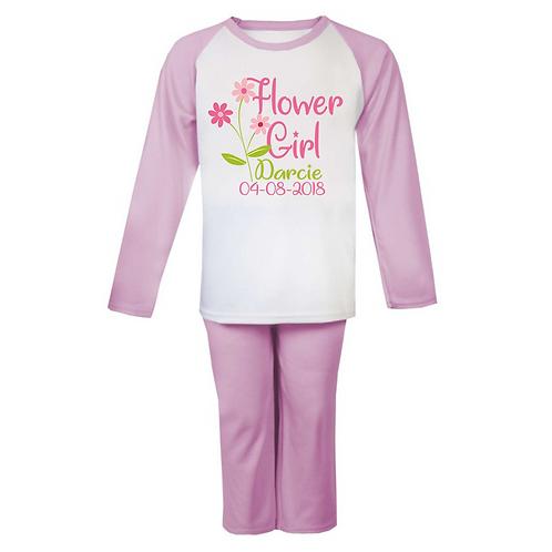 Personalised Flower Girl Pyjamas