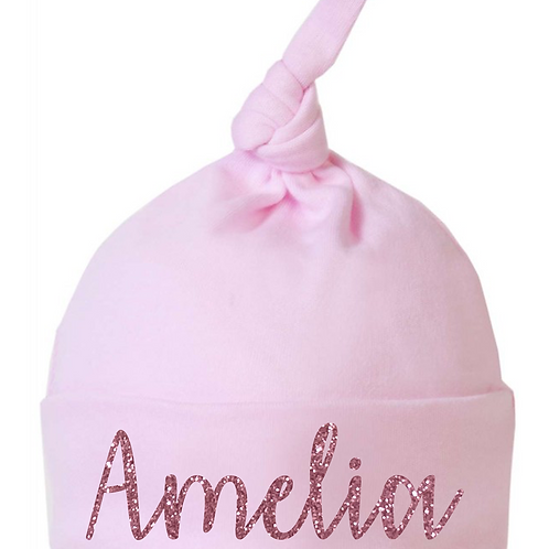 Personalised Joined Glitter Name Hat
