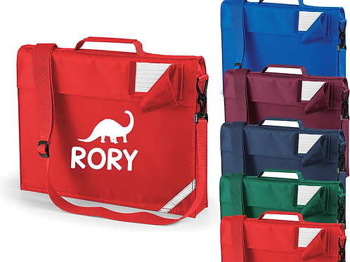 Personalised Dinosaur Bookbag