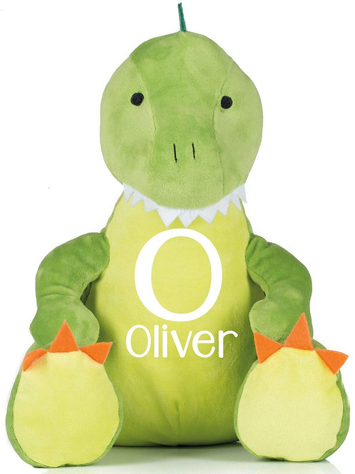 Personalised Initial and Name Teddy - Dinosaur