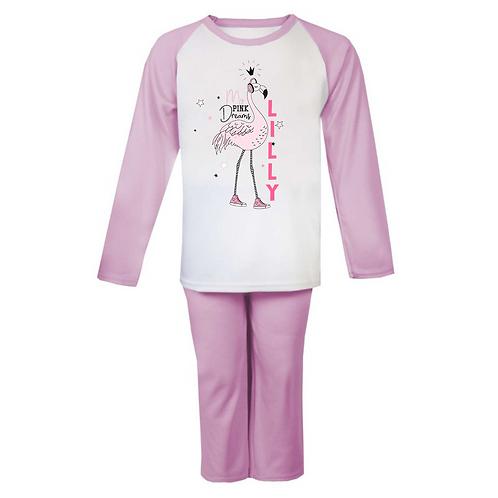 Flamingo My Pink Dreams Personalised Pyjamas