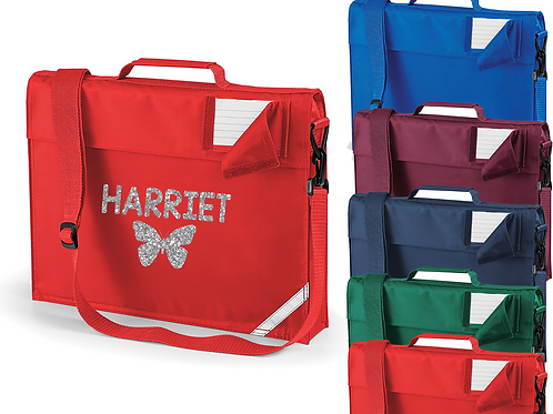 Personalised Butterfly Strap Bookbag