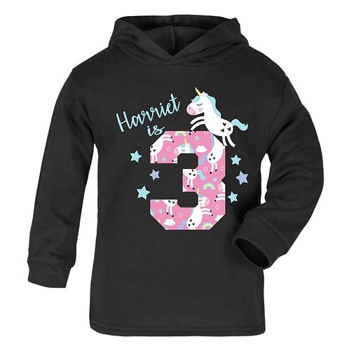Name is 3 Unicorn Hoodie