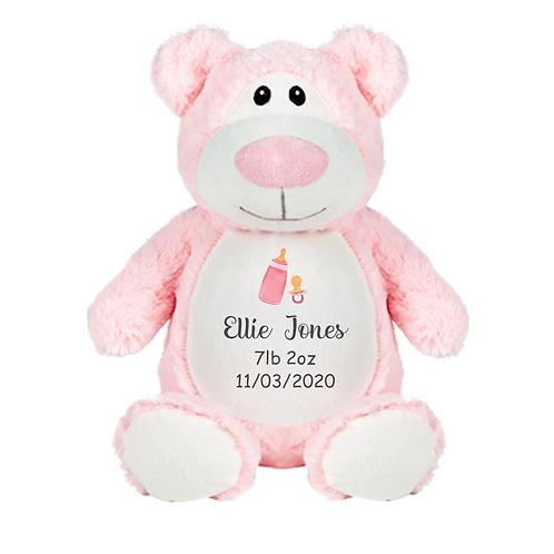 Personalised Baby Birth Details Teddy - Bear