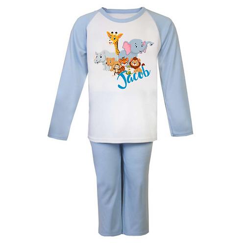 Cute Animals Personalised Pyjamas
