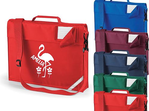 Personalised Flamingo Bag Strap Bookbag