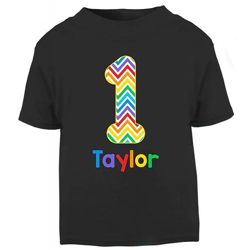 Personalised Rainbow Birthday T-shirt