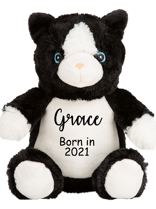 Personalised Born in 2021 Baby Teddy -Kitty