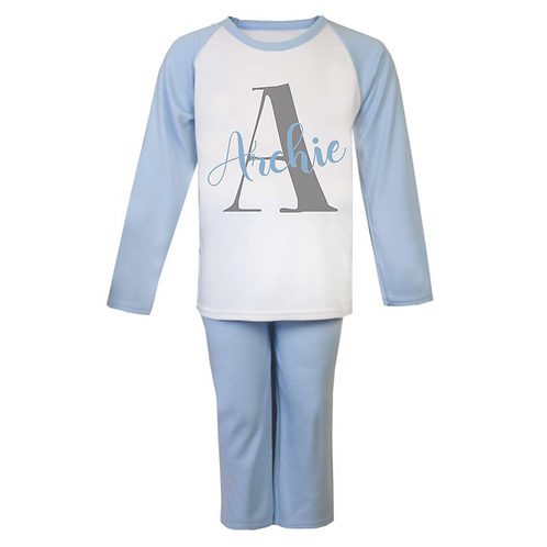 Letter and Name Personalised Pyjamas