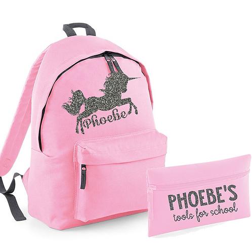Unicorn Bag and Pencil Case
