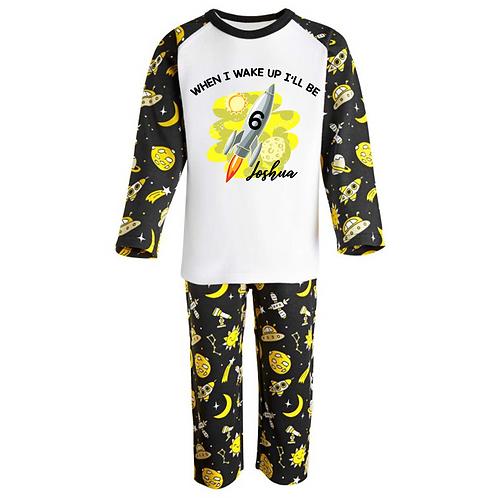 Personalised When I wake up Pyjamas -Space