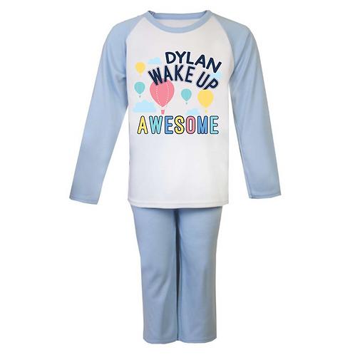 Personalised Wake Up Awesome Pyjamas