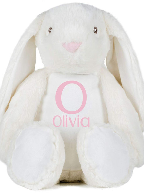 Personalised Initial and Name Teddy - White Bunny