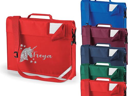 Personalised Unicorn Strap Bookbag