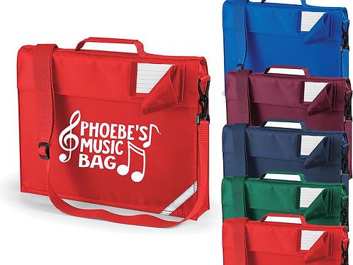 Personalised Music Bag Strap Bookbag