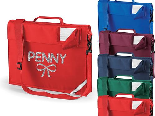 Personalised Bow Bag Strap Bookbag