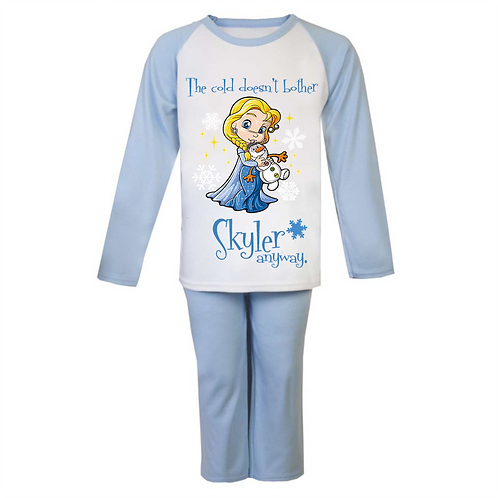 Personalised The Cold Elsa Pyjamas