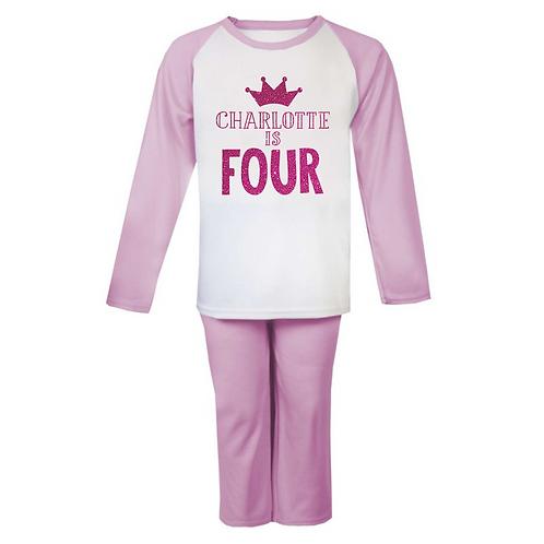 Personalised Name is Age Birthday Pyjamas