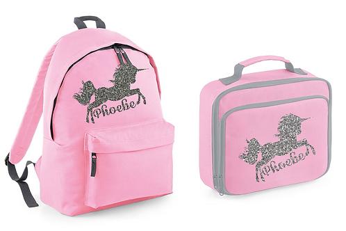 Unicorn Bag and Lunch Set