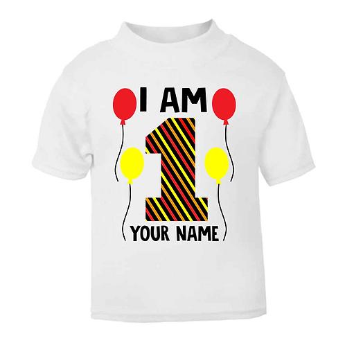 I am Age Stripy Birthday T-shirt