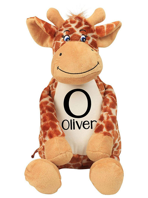 Personalised Initial and Name Teddy - Giraffe