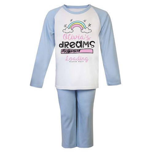 Personalised Dreams Loading Pyjamas