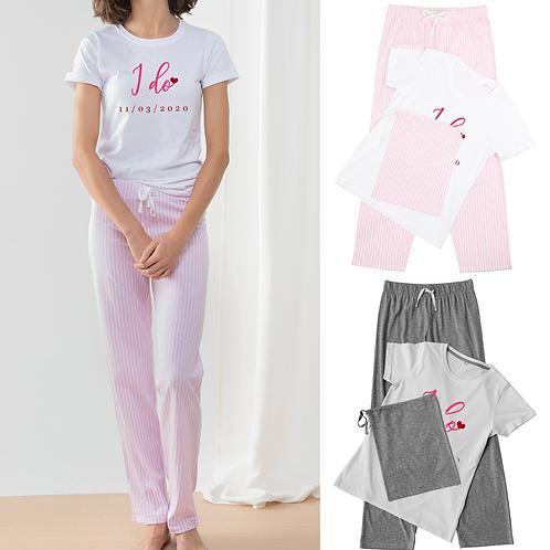 Personalised I Do Ladies Pyjamas