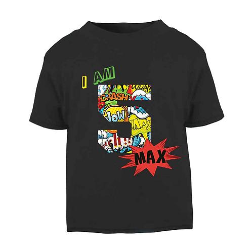 Comic Style Birthday T-shirt