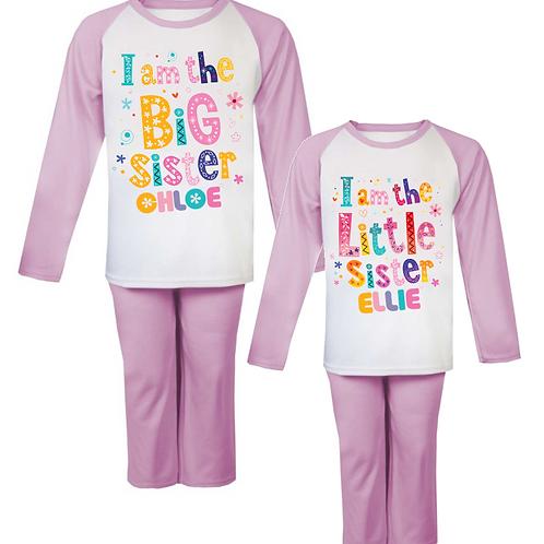 Big Sister Little Sister Personalised Pyjamas