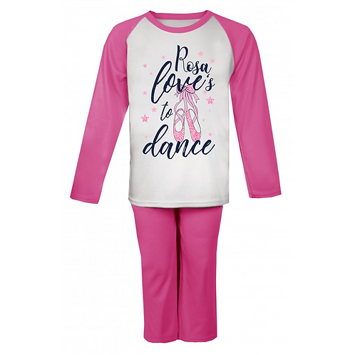 Loves to Dance Personalised Pyjamas