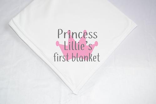 Princess Name First Blanket