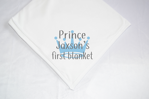 Prince Name First Blanket