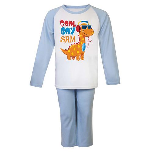 Cool Boy Dinosaur Personalised Pyjamas